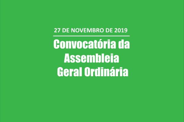 Convocatória da Assembleia Geral Ordinária a 27 de Novembro 2019