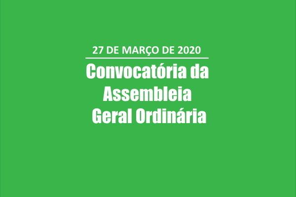 Convocatória da Assembleia Geral Ordinária a 27 de Março 2020